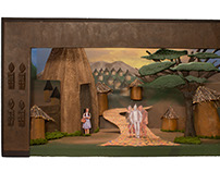 Wizard of Oz Scale Model set in Ancient Africa Concept