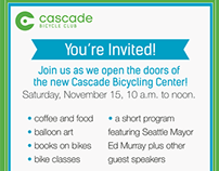 The Cascade Bicycle Club Celebration Invitation