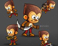 Monkey Warrior 2Game Character Sprites 220