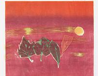 秋月叶之梦 Leaves' dreams on an autumn moon night