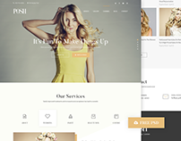 Posh Beauty Homepage - Free PSD