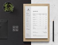 Invoice Template | Invoice Design | Receipt | MS Word I