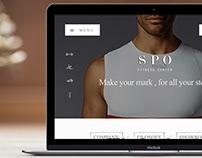 SPO FITNESS CENTER WEB DESIGN & MATERIALS