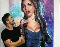 Amy Winehouse 100x150cm - Acrylic on Canvas
