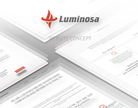 Luminosa website design