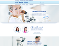 "Nutricia - ""Experts"" landing page"