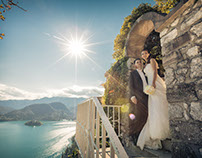 Fairy tale wedding at Bled