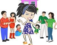 Character illustration for Children's Book