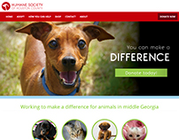 Humane Society of Houston County Website/Rebrand