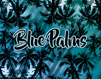 Blue Palms Pattern - Clothing