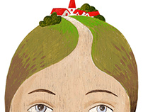 Woman with village on her head, 2010