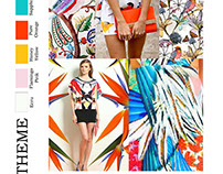#Textile Print #Illustrator #Rotatory Output #Birds