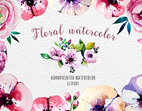 Floral watercolor set