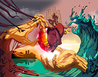 Ilustración por Diego Polo - Curso Illustrator