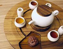 Zon, A Chinese Tea Set.