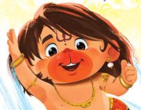 Up Up and away Hanuman
