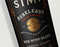 Rebellious Spirit Simi Rebel Cask Label Design