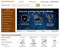 E-commerce website : : landing screen