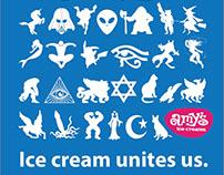 Amy's Ice Cream Bathroom Sign