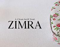Zimra - Free Serif Font