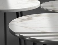 Marble coffee table concept by Orly Feldman