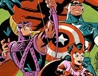 Avengers illustration (process)