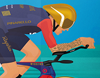 Illustration - Sir Bradley Wiggins Hour Record