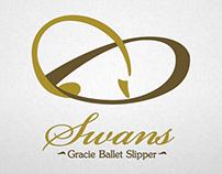 swans ballet slipper