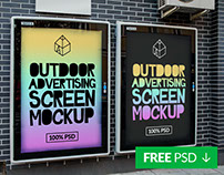 Free Outdoor Advertising Screen Mock-Ups 3