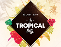 The Tropical Party - PSD Flyer Template