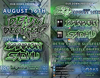 'Death By Decibels Tour' {Flyer} [Dub Down]