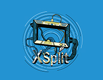 XSplit Blue themed T-Shirt Design
