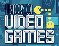History of Video Games | Magazine Illustration Design