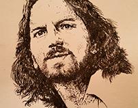 eddie Vedder in bic pen