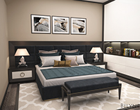Guest room in modern atr deco style