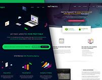 Hitopic / Realtimedata - Webdesign conception