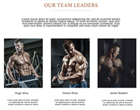 GYM Fitness Landing page