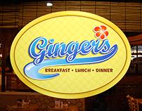 Ginger's Restaurant Branding