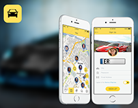 Mobile app UX/UI design - Social network for drivers