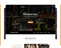 Khaown Koy - Restaurant web template design concept
