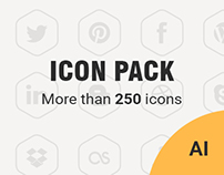 FREE vector social media icon set. 252 icons