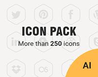 FREE vector social media icon set. 252 icons