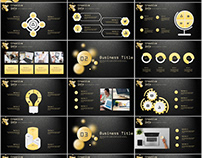 27+ gloden annual report chart PowerPoint Template