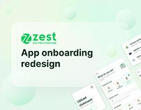 ZestMoney onboarding redesign