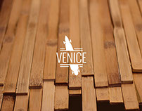 Venice - Illustrated Bamboo Longboard