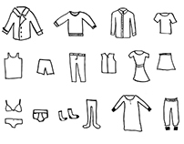 clothes drawings