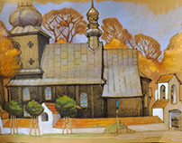 Wooden church. Polish Transcarpathia.