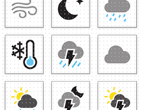 Coloured Weather Icon Set [SVG]