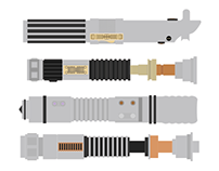 Star Wars Lightsaber Illustrations