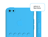 Iphone 5c Blue Case. Sketch Rework